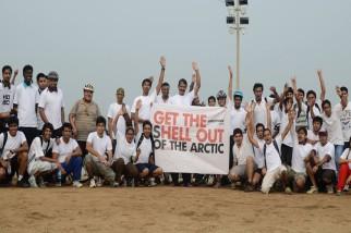 Save Arctic Greenpeace Protest