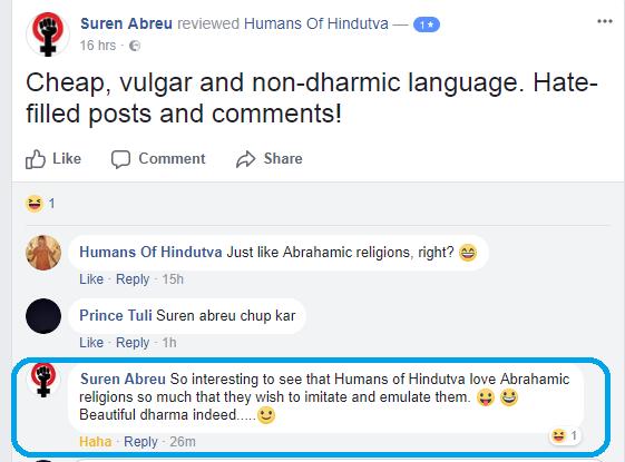 Humans of Hindutva Troll 08 reply to Su